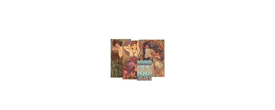 Gamme carnets, répertoires et agendas Paperblanks série Collection Mucha