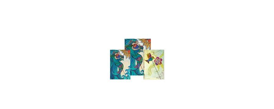 Gamme carnets, répertoires et agendas Paperblanks série Laurel Burch Création fantaisistes