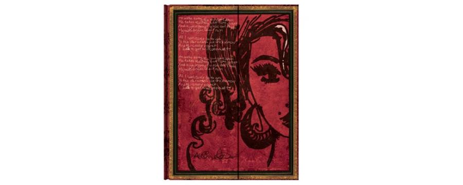 Gamme carnets, répertoires et agendas Paperblanks série Les Manuscrits Estampés Amy Winehouse, Tears Dry