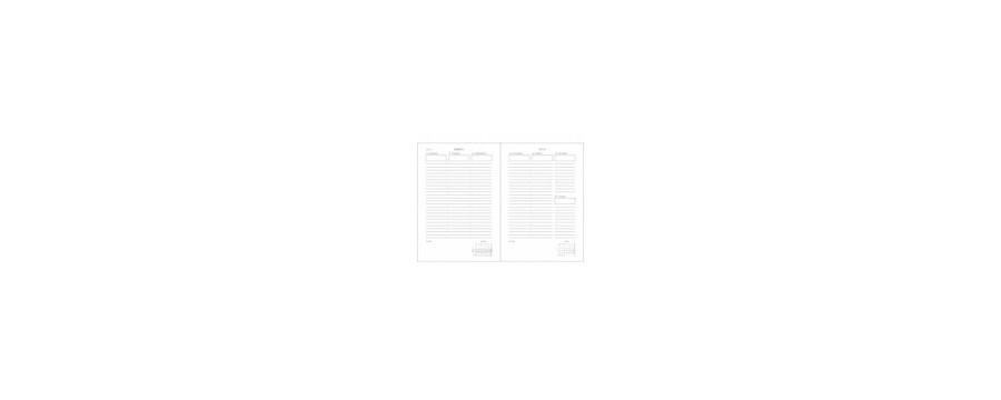 Agendas PAPERBLANKS Janvier à Décembre - 1 semaine sur 2 pages (12mois)