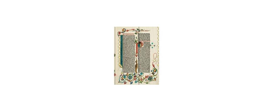 Gamme carnets, répertoires et agendas Paperblanks série Bible Gutenberg