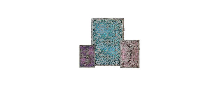 Gamme carnets, répertoires et agendas Paperblanks série Collection Filigrane Argenté