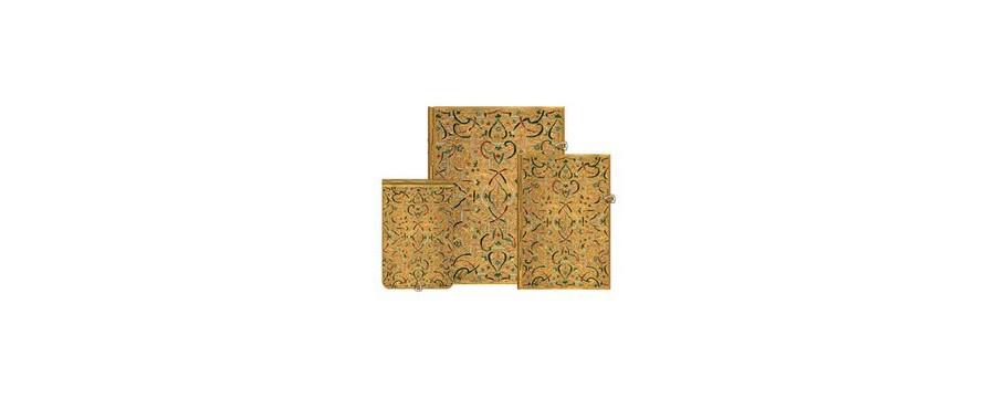 Gamme carnets, répertoires et agendas Paperblanks série Marqueterie D'Or