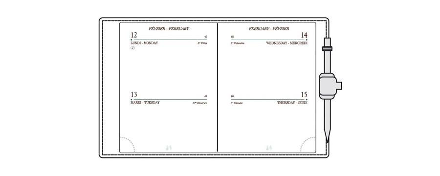 Recharges A10/AG10/RS10 pour agendas MIGNON