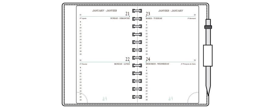 Recharges A12-AG12-AK12-RK12-SK12-TG12-TK12-TS12 pour agendas MIGNON