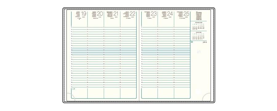 Recharges A27 pour agendas MIGNON